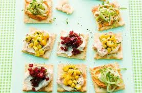 simple vegetarian canapes 50 and easy canapes cracker bites goodtoknow