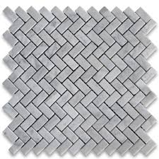 carrara white 5 8x1 1 4 herringbone mosaic tile polished marble