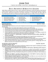 architect resume data architect resume exle data analytics it consultant