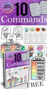 free ten commandments activity pack bible story printables