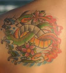 fire and water symbol snakes tattoo tattooimages biz