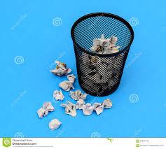 waste paper baskets waste paper basket stock image image of author basket 57804449