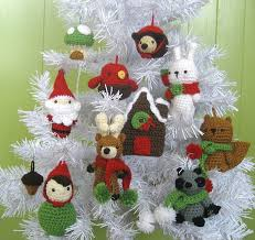 ravelry woodland ornament crochet pattern set pattern