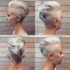 funky hairstyle for silver hair silver gray faux hawk hair pinterest faux hawk gray and