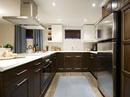 kitchen contemporary kitchen installed on hardwood flooring interesting two toned kitchens ideas for your remodel project contemporary kitchen installed on hardwood flooring