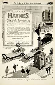1917 ad haynes automobile light six twelve car brass era classic