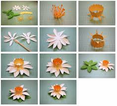 bits of paper fringed and spring 3d paper flowers