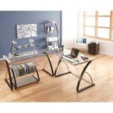 Computer Desks Office Depot Realspace Merido Desk 36 H X 55 W X 28 35 D Espressosilver By