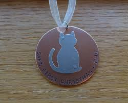 cat first christmas tree ornament cat christmas