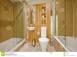 bathroom with marble floor and mosaic tiles royalty free stock