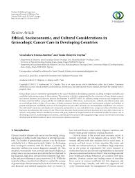 ethical socioeconomic and cultural considerations in gynecologic