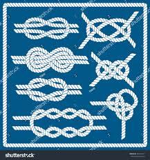 sailor knot set nautical infinity stock vector 281014271