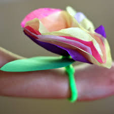 tissue paper flower corsages and butterflies buzzmills