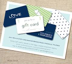 gift card shower invitation gift card bridal shower invitation wording bridal shower