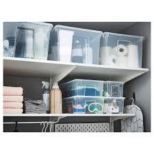 ikea kitchen cupboard storage boxes samla box clear 15 x11x11 6 gallon ikea