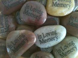 memory stones small memorial stones in loving memory stones funeral favor or gift