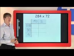 long multiplication using the grid or box method youtube