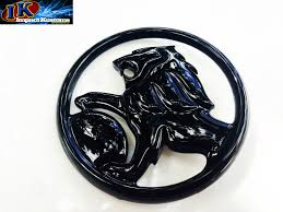 custom mitsubishi emblem holden vt vx vu custom piano black lion bonnet emblem badge