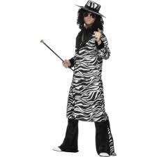 Pimp Halloween Costume Zebra Print Pimp Daddy Costume 25993