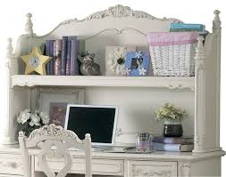 homelegance cinderella writing desk hutch in white traditional