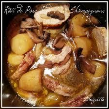 comment cuisiner roti de porc rôti de porc p de terre chignons recettes cookeo