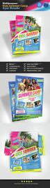 kids summer camp flyer bundle flyer template print templates