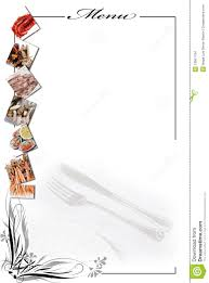menu card for seafood in white stock images image 13561794
