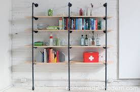 modern diy pipe shelves 9 steps with pictures