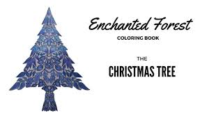 enchanted forest coloring book christmas tree
