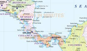 Central America Physical Map by Central America And The Caribbean Political Map 1993 Full Size