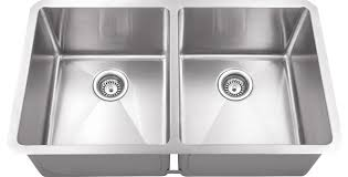 Hahn Chef Series Handmade Equal Double Bowl Contemporary - Kitchen double bowl sinks