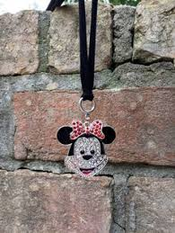 Personalized Rear View Mirror Charms Minnie Mouse Disney Bound Rear View Mirror Charm By Thebadabling