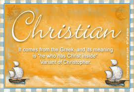christian name meaning christian name origin name christian