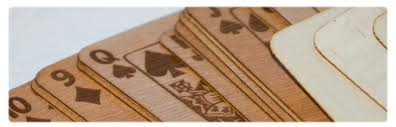 kickstarter hardwood cards by bibelot