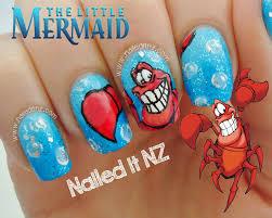 disney nail art 4 the little mermaid