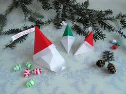 How To Make A Origami Santa - how to make an origami santa claus and gift boxes