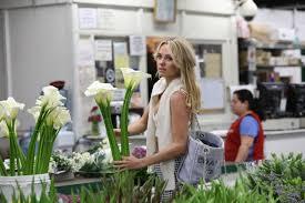 los angeles florist garner at a flower market in los angeles march 2015