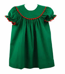 rick rack trim rich green corduroy bishop dress rick rack trim