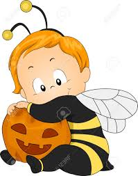 illustration of a baby dressed as a honeybee stock photo picture