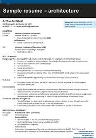 Cad Drafter Resume 100 Resume Architect Sample Resume For Architecture Student