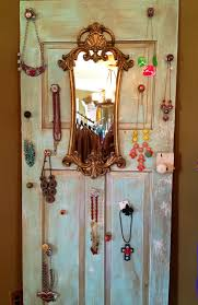 colored necklace display images Vintage necklace jewelry display made out of an old door antique jpg
