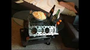 How To Make An Engine Block Coffee Table - v8 tisch camaro 5 0 small block motortisch engine coffee table