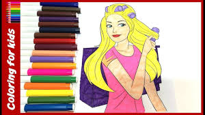 colouring pages for girls how to color barbie coloring pages