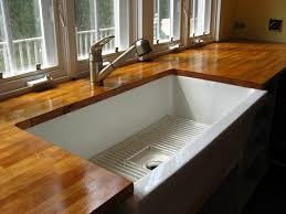 Ikea Kitchen Sinks And Taps by Undermount Sink W Wood Countertops