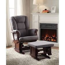 artiva usa home deluxe mocha microfiber cushion glider chair and