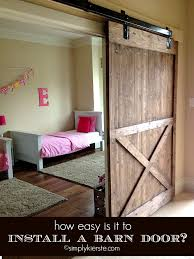 How To Install A Patio Door installing a sliding barn door how easy is it barn doors