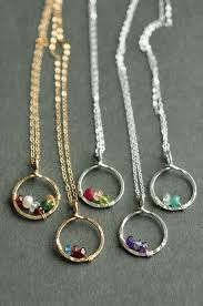 mothers day jewelry ideas circle of birthstone necklaces simple and timeless great as