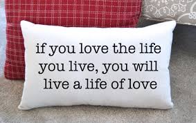 canvas pillow inspirational quote home decor lake decor
