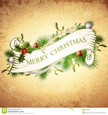 vintage merry greetings design stock vector image