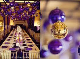 Purple Gold Christmas Decorations Cool Purple Winter Wedding Decoration Ideaswedwebtalks Wedwebtalks